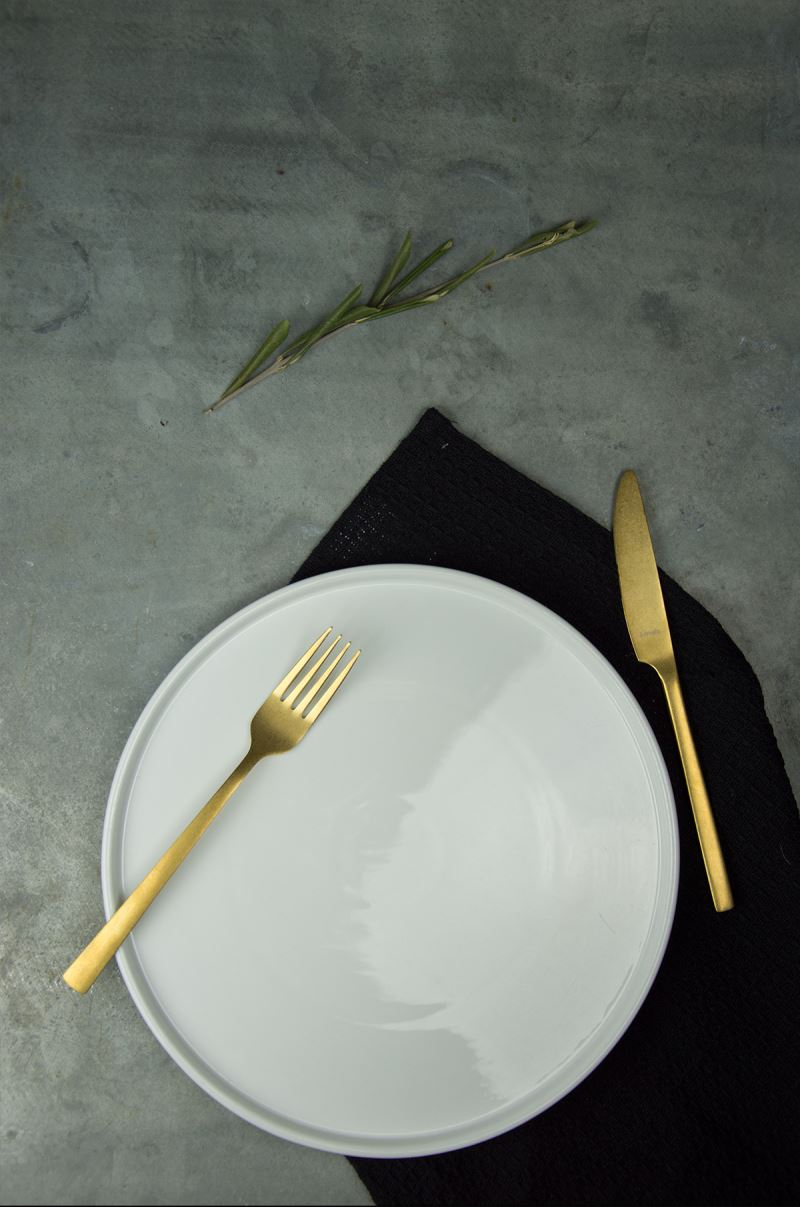 Combine the sturdy flatware with a modern set table