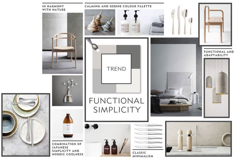 Trend board Functional simplicity